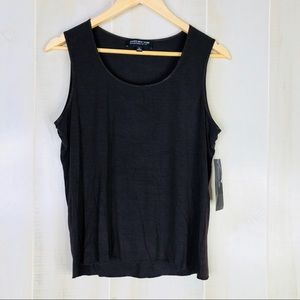 Jones New York Collection Brown Tank Top Size PL